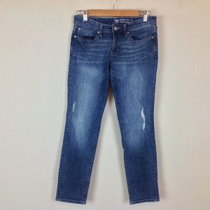 Gap Skinny Roll up Jeans Womens 2 26 Distressed